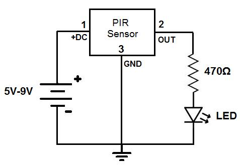 Exelent Led Sensor Circuit Image Collection - Electrical Diagram ...